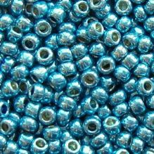 Toho 8/0 Seed Beads Permanent Finish  Galvanised Aqua Sky PF582 - 10 grams